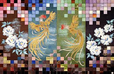 Chrysanthemum Wall Art - Painting - Japanese Modern Interior Art #148 by ArtMarketJapan