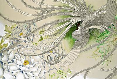 Chrysanthemum Wall Art - Painting - Japanese Modern Interior Art #150 by ArtMarketJapan