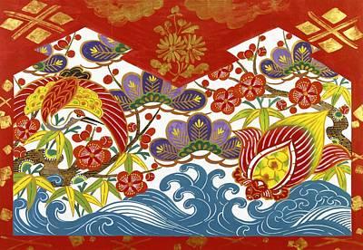 Painted Turtle Wall Art - Painting - Japanese Modern Interior Art #179 by ArtMarketJapan
