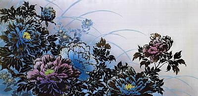 Chrysanthemum Wall Art - Painting - Japanese Modern Interior Art #71 by ArtMarketJapan