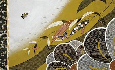 Chrysanthemum Wall Art - Painting - Japanese Modern Interior Art #89 by ArtMarketJapan