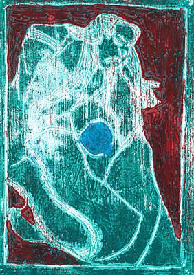 Relief - Japanese Pop Art Print 9r1 by Artist Dot