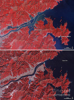 Photograph - Japanese Tsunami 2011 by NASA Earth Observatory