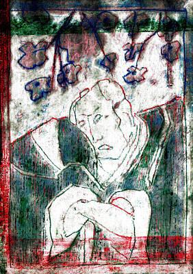 Relief - Japanese Woodblock Pop Art Print 3rviv1 by Artist Dot