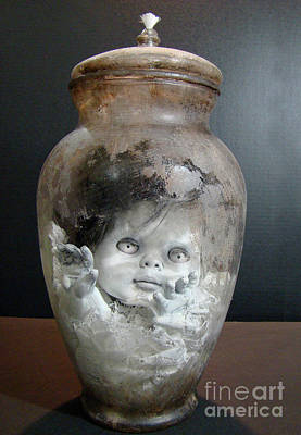 Mixed Media - Jar Baby by Cindy DeGraw