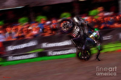 Photograph - Jason Britton Wheelie by Blake Richards
