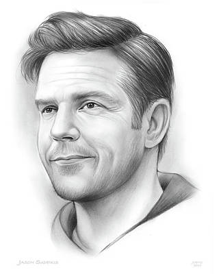 Drawings Rights Managed Images - Jason Sudeikis Royalty-Free Image by Greg Joens