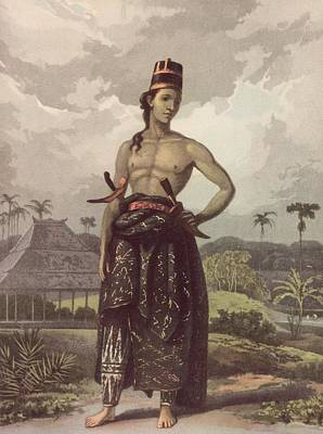Javan Royalty Art Print by Hulton Archive