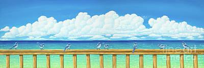 Painting - Jay Walkers by Elisabeth Sullivan