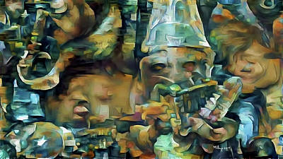 Digital Art - Jazz Band by Mike Butler
