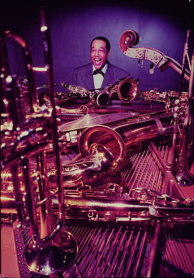 Photograph - Jazz Essay 54 Pianist Duke Ellington by Eliot Elisofon