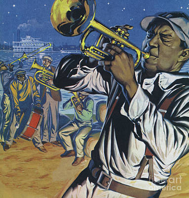 Painting - Jazz Men Of New Orleans by Angus McBride