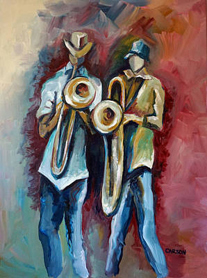Painting - Jazz Men by Susan Carson