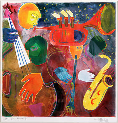 Clarinet Wall Art - Painting - Jazz Messenger I By Gil Mayers by Gilbert Mayers