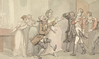 Drawing - Jealousy, Rage, Disappointment... by Thomas Rowlandson