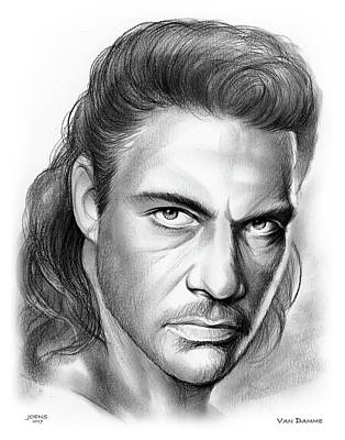 Drawing - Jean-claude Van Damme by Greg Joens