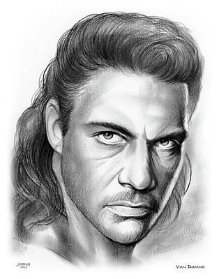 Drawings - Jean-Claude Van Damme by Greg Joens