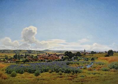 Painting - Jean-ferdinand Monchablon - Fresnes by Jean-Ferdinand Monchablon