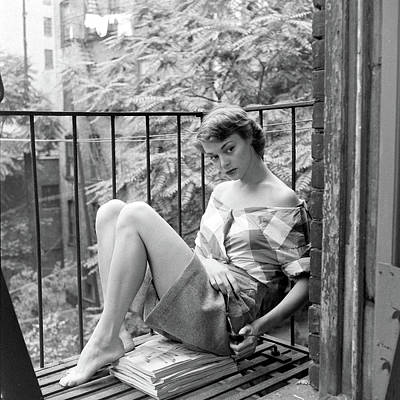 Photograph - Jean Patchet On Fire Escape by Nina Leen