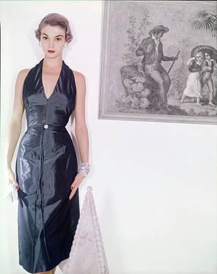 Photograph - Jean Patchett In An Altman Dress by Horst P. Horst