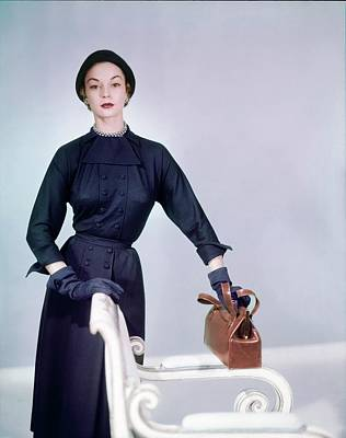 Photograph - Jean Patchett Wearing Zelma Golden by Horst P. Horst