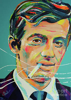 Painting - Jean-paul Belmondo by Marie-Armelle Borel