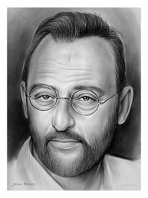 Colorful Button - Jean Reno by Greg Joens