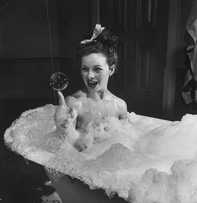 Balance Photograph - Jeanne Crain by Peter Stackpole