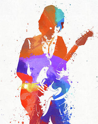 Painting - Jeff Beck by Dan Sproul