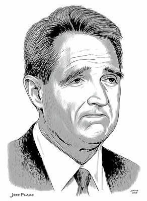 Drawings - Jeff Flake 2 by Greg Joens