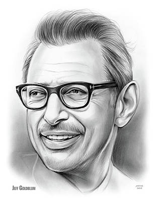 Drawing - Jeff Goldblum 30dec18 by Greg Joens