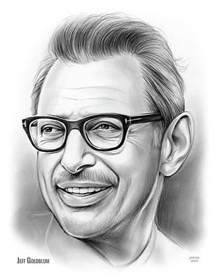 Drawings - Jeff Goldblum 30DEC18 by Greg Joens