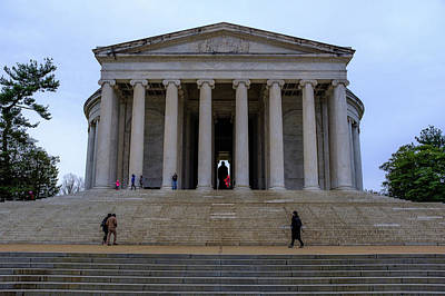 Photograph - Jefferson Memorial On A Cloudy Day by Doug Ash