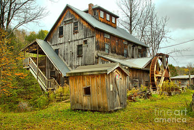 Photograph - Jeffersonville Vermont Grist Mill Landscape by Adam Jewell