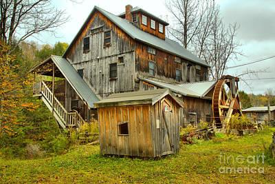 Photograph - Jeffersonville Vermont Grist Mill Landscape by Adam Jewell