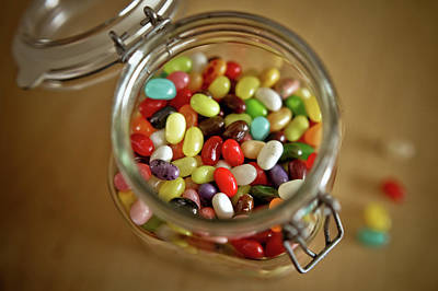 Jar Photograph - Jelly Beans In A Jar by Steven Brisson Photography