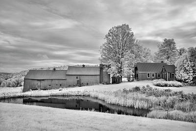 Photograph - Jenne Farm Infrared Barn by Luke Moore