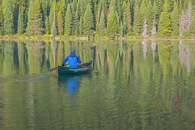 Photograph - Jenny Lake Canoe by Matthew Irvin