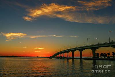 Photograph - Jensen Causeway Sunrise by Tom Claud