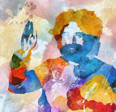 Music Paintings - Jerry by Dan Sproul