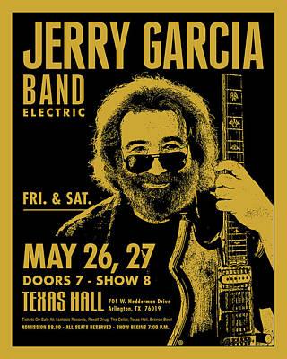 Digital Art - Jerry Garcia by Gary Grayson