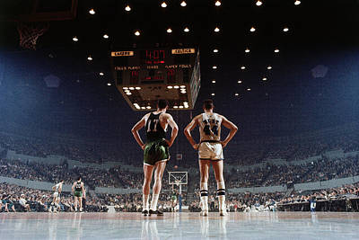 Photograph - Jerry West And John  Havlicek by Nba Photos