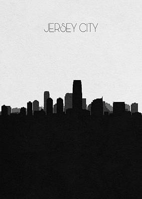 Drawing - Jersey City Cityscape Art by Inspirowl Design