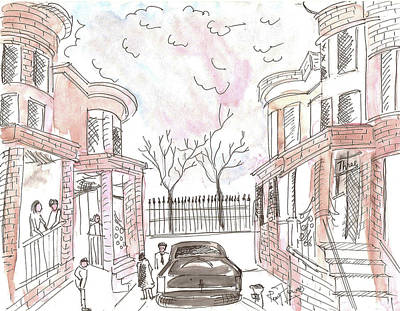 Jersey City Neighbourhood Art Print by Remy Francis