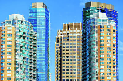 Photograph - Jersey City Skyscrapers by John Rizzuto