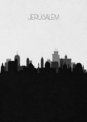 Digital Art - Jerusalem Cityscape Art by Inspirowl Design