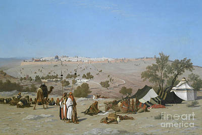 Painting - Jerusalem From The Mount Of Olives, 1880 by Charles Theodore Frere