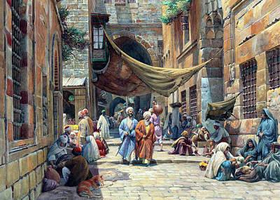Owls - Jerusalem Old Street by Munir Alawi