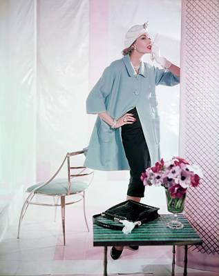 Photograph - Jessica Ford In Ben Gershel by Horst P. Horst