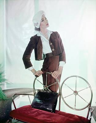 Photograph - Jessica Ford In Traina-norell by Horst P. Horst